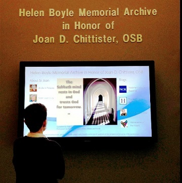 Sister Joan Chittister Display at Mercyhurst Univ